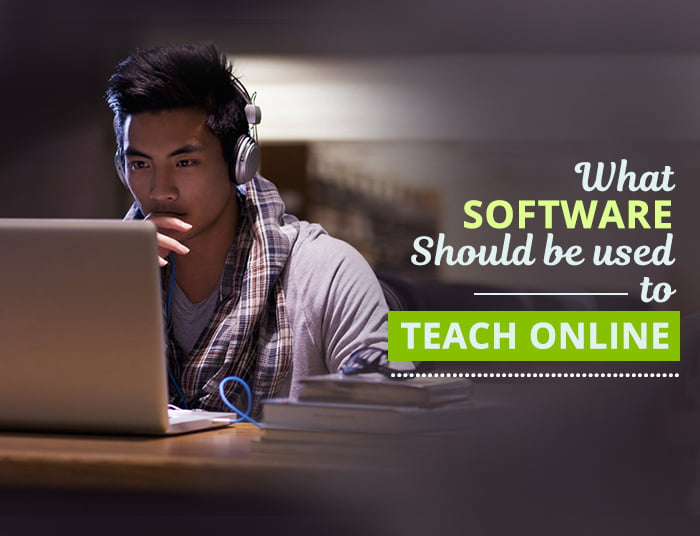 Software used to teach Online
